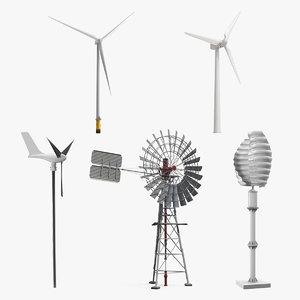 wind turbines 4 3D