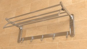 3D bathroom hanger model