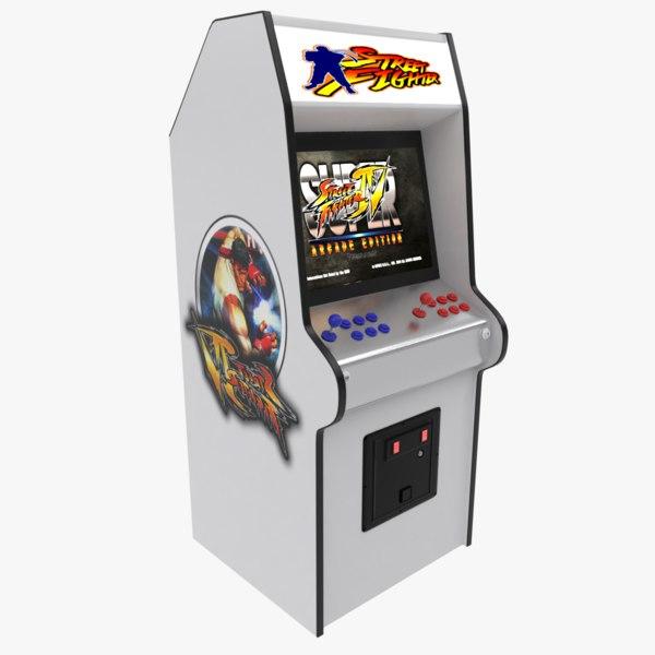 street fighters arcade 3D model