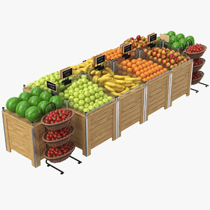 real fruit display 3D model