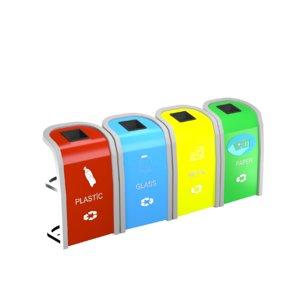 recycle bins 3D model