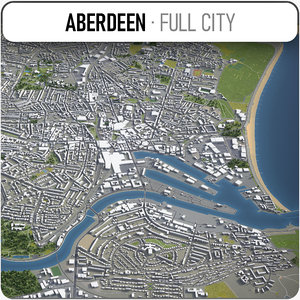 aberdeen surrounding - 3D model
