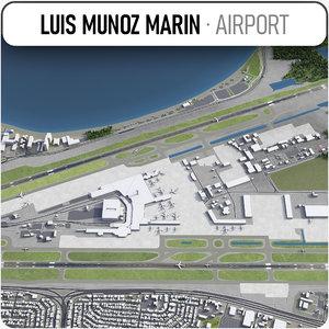 3D aeropuerto internacional luis munoz
