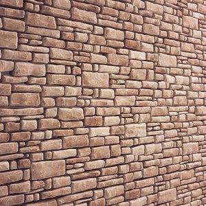 wall brick stone 3D model