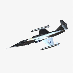 3D lockheed f-104g starfighter fighter jet model