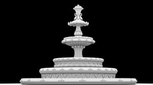 3D fountains decor model