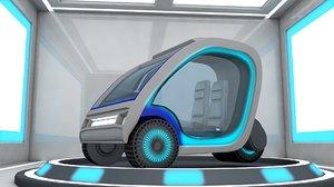 car sci fi 3D model