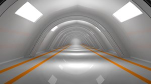 tunnel architectural 3D model
