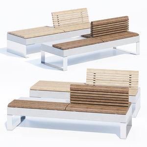 3D model bench metalco