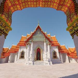 3D realistic temple thailand