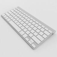 3D apple wireless keyboard model