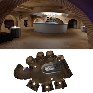 star wars cantina interior 3D model