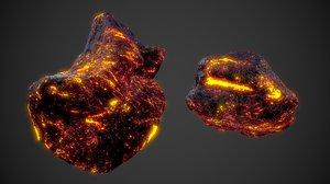 asteroids space scene 3D model