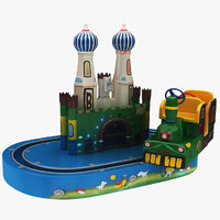 train carousel toy 3D model