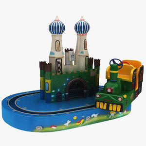 train carousel toy 3D model