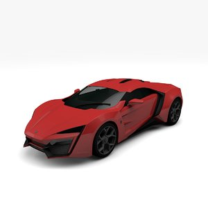 w-motors lykan hypersport 3D model