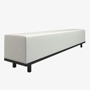 liaigre nankin bench 3D