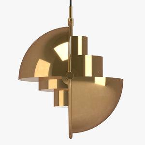 3D model louis weisdorf pendant