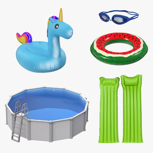 3D swimming pool accessories 2