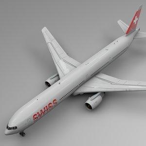 swissair boeing 777-300er l559 3D