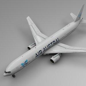 3D air austral boeing 777-300er