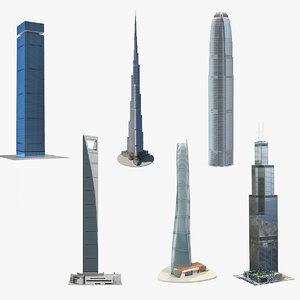3D model skyscrapers 4