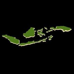 indonesia archipelago islands 3D model