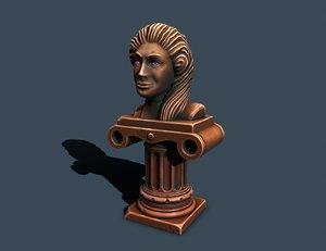 pedestal bronze 3D model