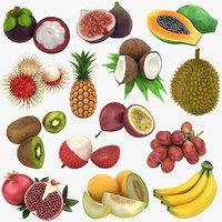 3D tropical fruit model
