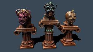 mask pedestal 3D model