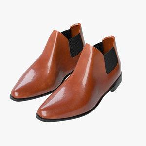 3D business shoes 05 model