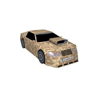 3D model sports car guardian