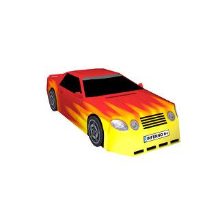sports car inferno 3D model