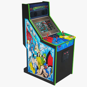 gauntlet arcade machine 3D model