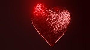 sparkle heart 3D model