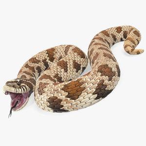 3D brown hognose snake rigged model
