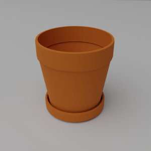 medium flower pot 3D