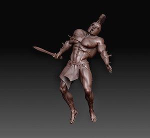 3D body weapons model