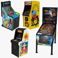 4 Arcade Game Machine Collection