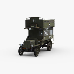 ww1 type b military 3D model
