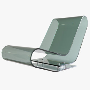 3D model lcp lounge chair