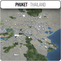 phuket surrounding - 3D model