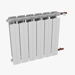 3D central heating radiator model