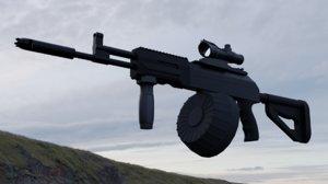 3D ak-12 upgrades model