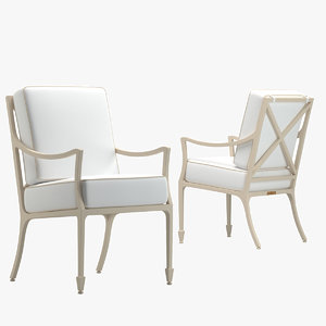 3D mckinnon harris beaufort arm chair