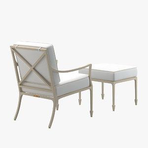 mckinnon harris beaufort lounge chair 3D