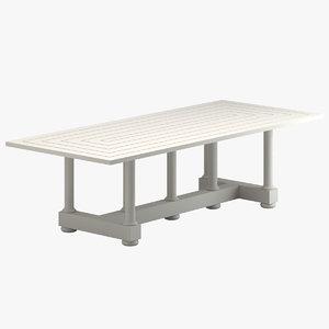 3D model mckinnon harris dining table