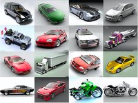 finest cars pack 1 3D model