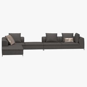 michel club sofa 3D model