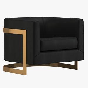 milo baughman chair 3D model
